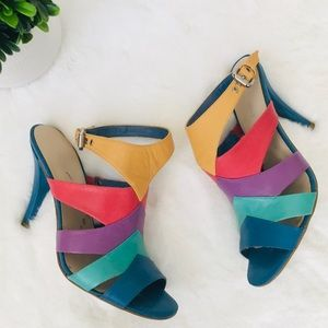 Nine West multi-tone heels